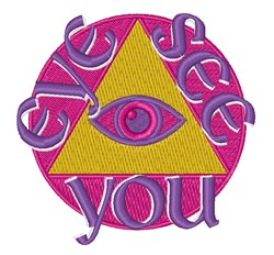 Eye See You embroidery design