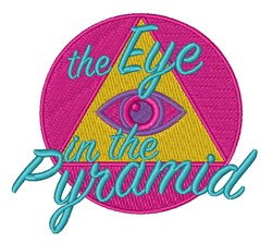 Eye In The Pyramid embroidery design