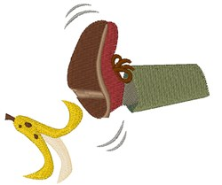 Banana Peel Slip embroidery design