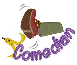 Comedian embroidery design
