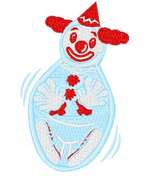 Clown Punching Bag embroidery design