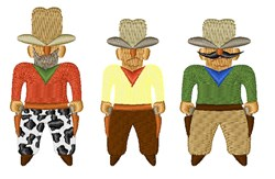 Shooting Gallery Cowboys embroidery design