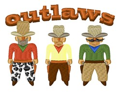 Shooting Gallery Outlaws embroidery design