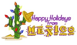 Holidays From Mexico! embroidery design