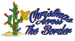 Christmas Across Border embroidery design