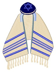 Tallit & Yamaka embroidery design