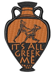 Greek To Me embroidery design