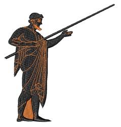 Greek Warrior embroidery design