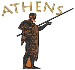 Athens Warrior embroidery design