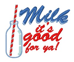 Milk Its Good embroidery design