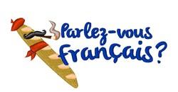 Parlez-vous Franais? embroidery design
