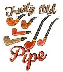 Trusty Old Pipe embroidery design