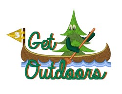 Get Outdoors embroidery design