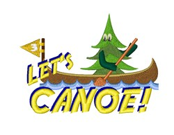 Lets Canoe! embroidery design