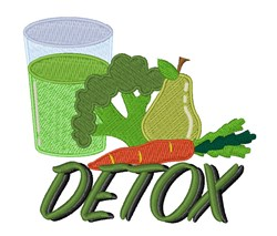 Detox Juice embroidery design