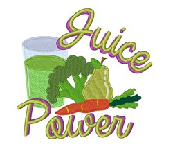 Juice Power embroidery design