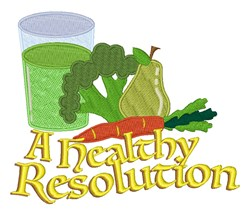 Healthy Resolution embroidery design