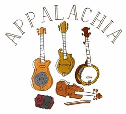 Appalachia Instruments embroidery design