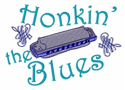 Honkin The Blues embroidery design