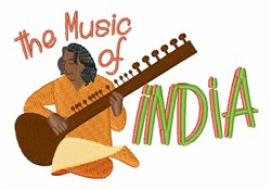 Music Of India embroidery design