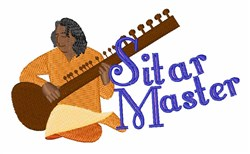 Sitar Master embroidery design