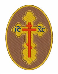 Eastern Orthodox Cross embroidery design