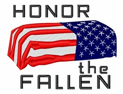 Honor The Fallen embroidery design