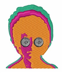 Psychedelic Eyes embroidery design