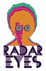 Radar Eyes embroidery design