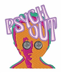 Psych Out embroidery design