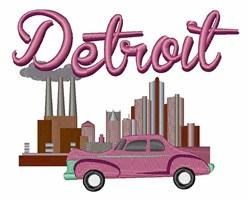 Detroit embroidery design