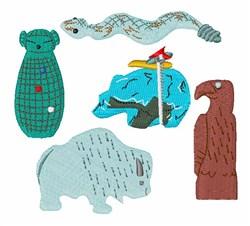 Zuni Fetishes embroidery design