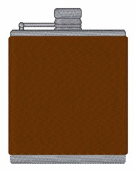 Flask embroidery design