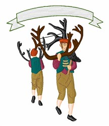 Bromley Horn Dance embroidery design