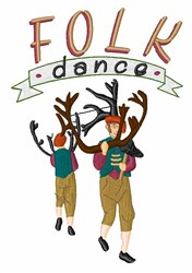Folk Dance embroidery design