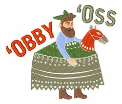 Obby Oss embroidery design