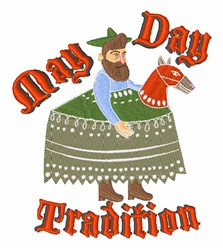May Day Tradition embroidery design