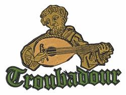 Troubadour embroidery design