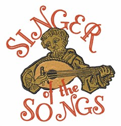 Singer Of Songs embroidery design