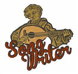 Song Writer embroidery design