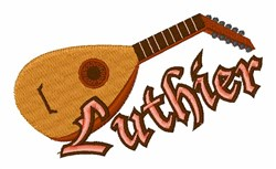 Luthier embroidery design