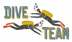 Dive Team embroidery design
