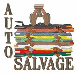 Auto Salvage embroidery design