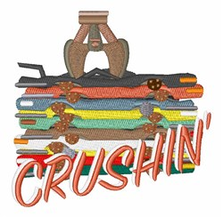 Auto Crushin embroidery design