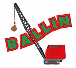 Crane Ballin embroidery design