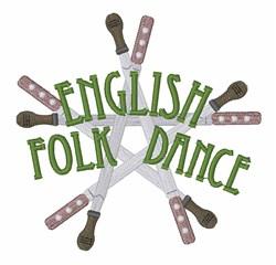English Folk Dance embroidery design