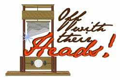 Off With Heads embroidery design