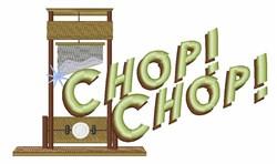 Guillotine Chop embroidery design