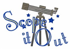 Scope It Out embroidery design