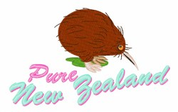 Pure New Zealand embroidery design